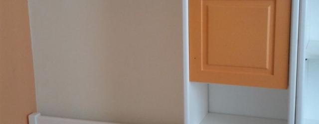Παιδικό λακαριστό άσπρο -πορτοκαλί