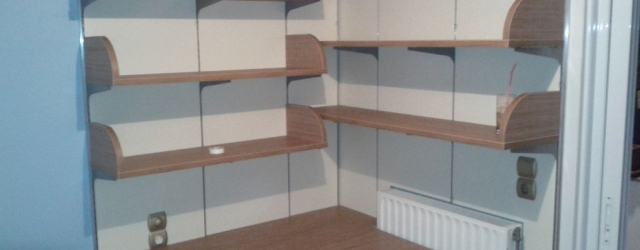 Παιδικό δωμάτιο με γωνιακή βιβλιοθήκη